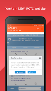 screenshot of SuperTatkal - Train ticket version 6.11