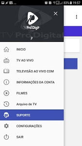screenshot of TV Pro Digital IPTV version 1.4.3