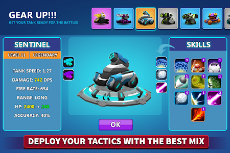 screenshot of Tank Raid Online version 2.40