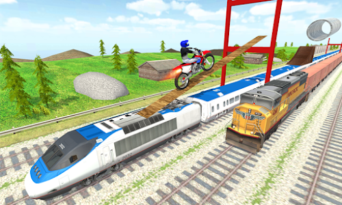 screenshot of Tricky Bike Train Stunts Trail version 1.0