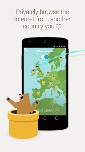 screenshot of TunnelBear VPN version v161