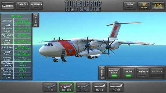 screenshot of Turboprop Flight Simulator 3D version 1.20