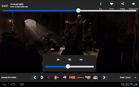 screenshot of Turkcell TV+ version V2.2.9