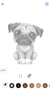 screenshot of Unicorn Pug - Color By Number & Pixel No Draw version 1.0.5