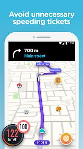 screenshot of Waze - GPS, Maps, Traffic Alerts & Live Navigation version 4.47.0.3
