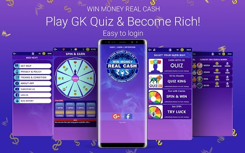 screenshot of Win Money Real Cash - Play GK Quiz & Become Rich version 3