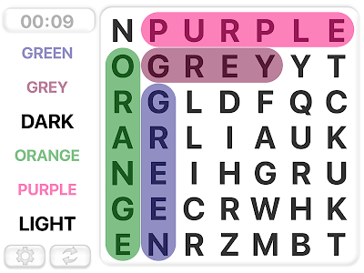 screenshot of Word Search Games in english version 8.2