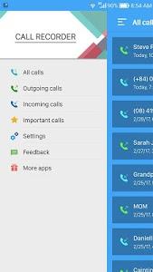 screenshot of call recorder version 3