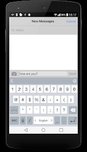 screenshot of iMessenger: Messenger OS9 version 4.0