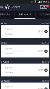 screenshot of Star Sports Live Cricket Score version 4.6